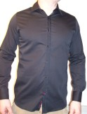 Ted Baker Cufflink Black Shirt